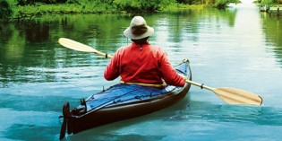 Boboland fait du kayak
