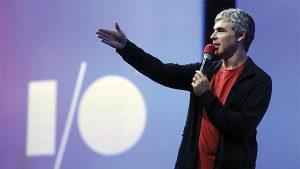 Larry Page, cofondateur de google. Le moteur de recherche finance des laboratoires et une université sur la manipulation du vivant.