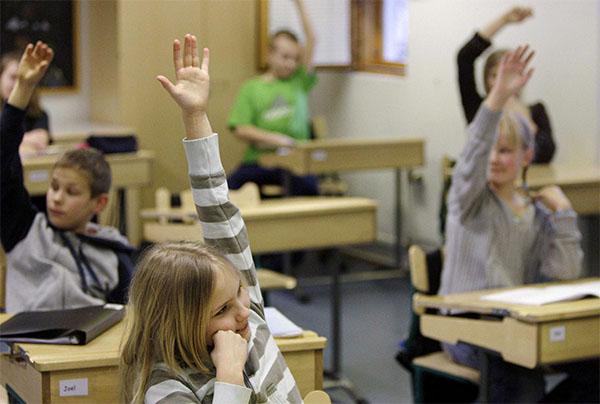 Une école primaire en Finlande.