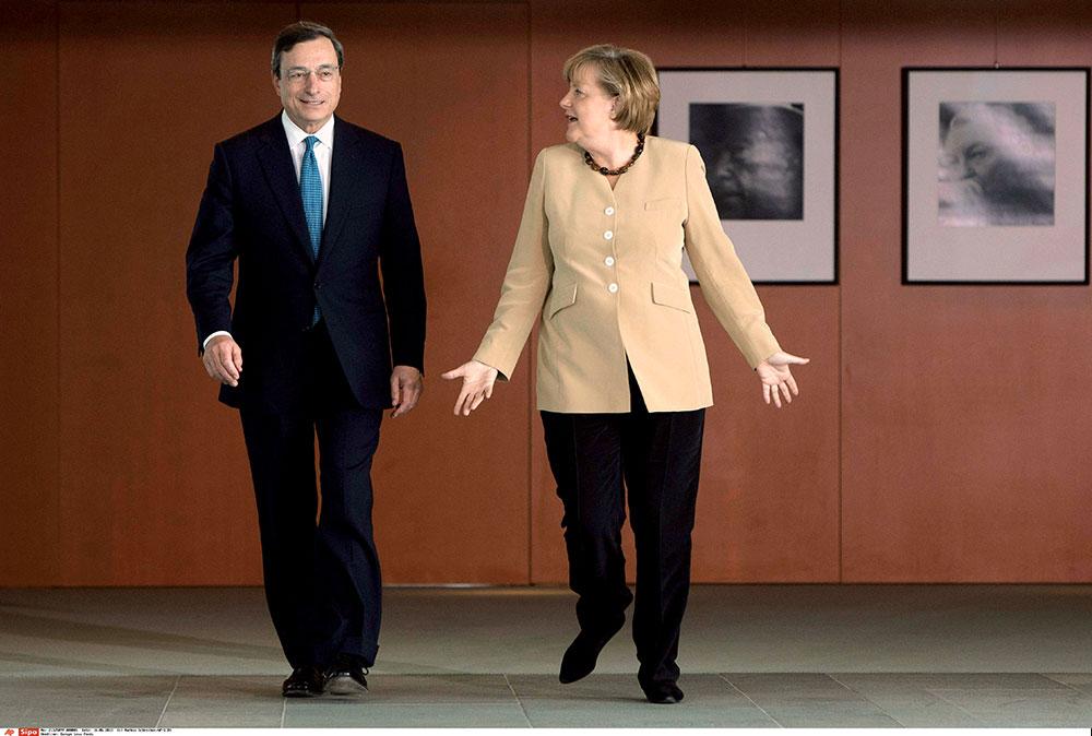 Mario Draghi et Angela Merkel - Politique Magazine