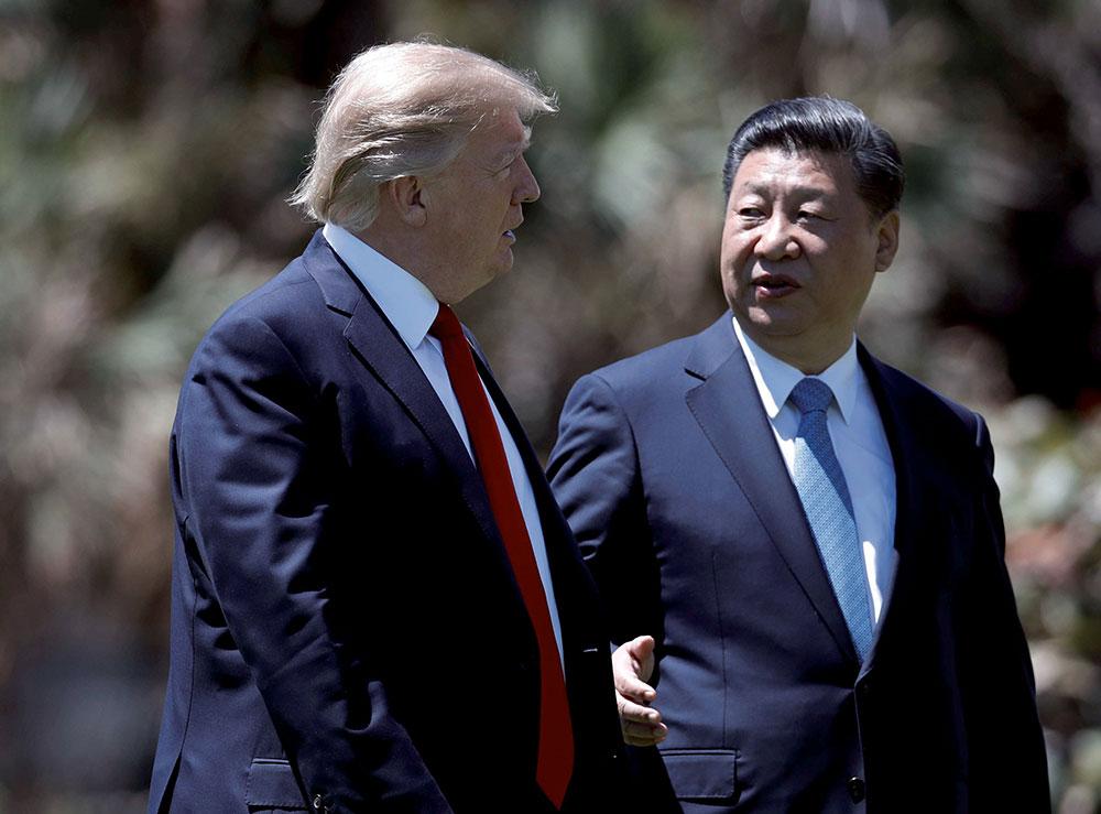 Donald Trump avec Xi Jinping - Politique Magazine