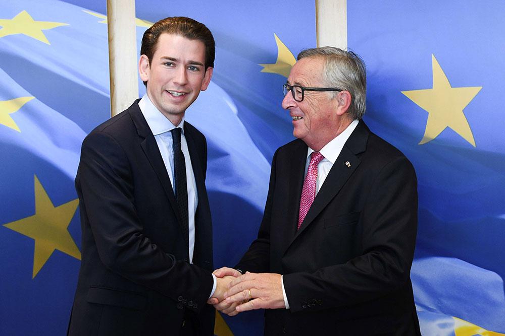 Sebastian Kurz et Jean-Claude Junker - Politique Magazine