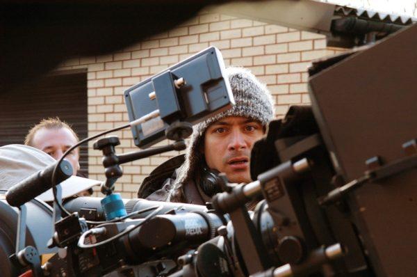 Jean-Baptiste Andrea, sur le tournage de son film Big Nothing, en 2006.
