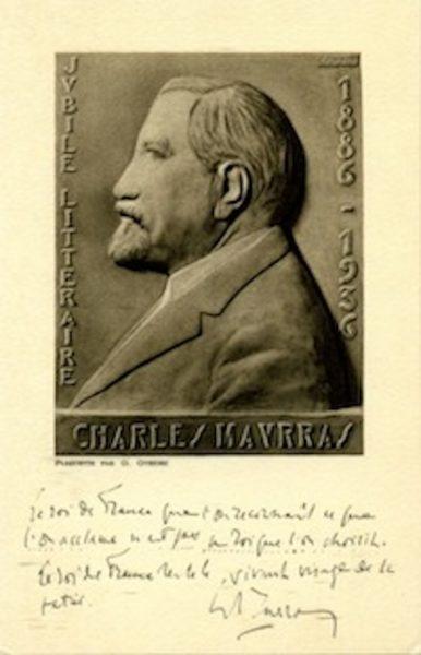 1936 – Jubilé littéraire de Charles Maurras.